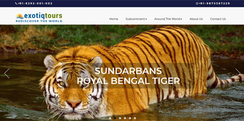 www.exotiqtours.com by website design company in Delhi